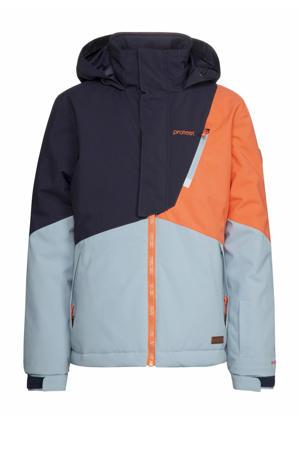 ski-jack Cherry jr blauw/oranje