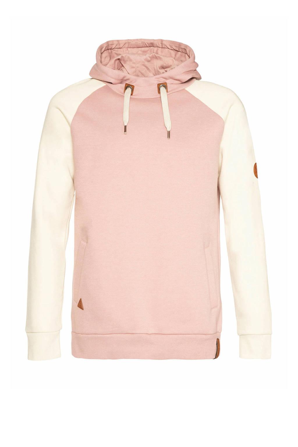 NXG by Protest hoodie Maluku roze/wit, Roze/wit