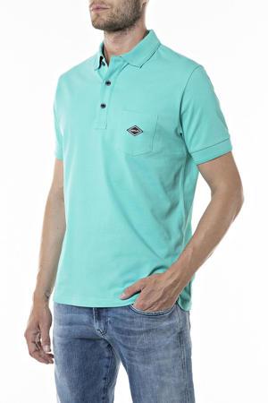 regular fit polo met logo turquoise