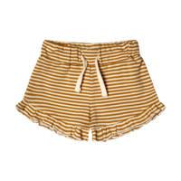 Your Wishes gestreepte regular fit korte broek lichtbruin/wit, Lichtbruin/wit