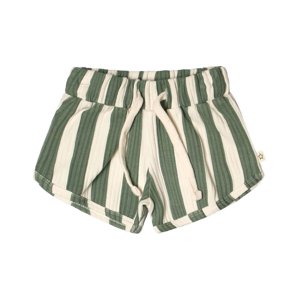 Your Wishes gestreepte regular fit sweatshort groen/wit, Groen/wit