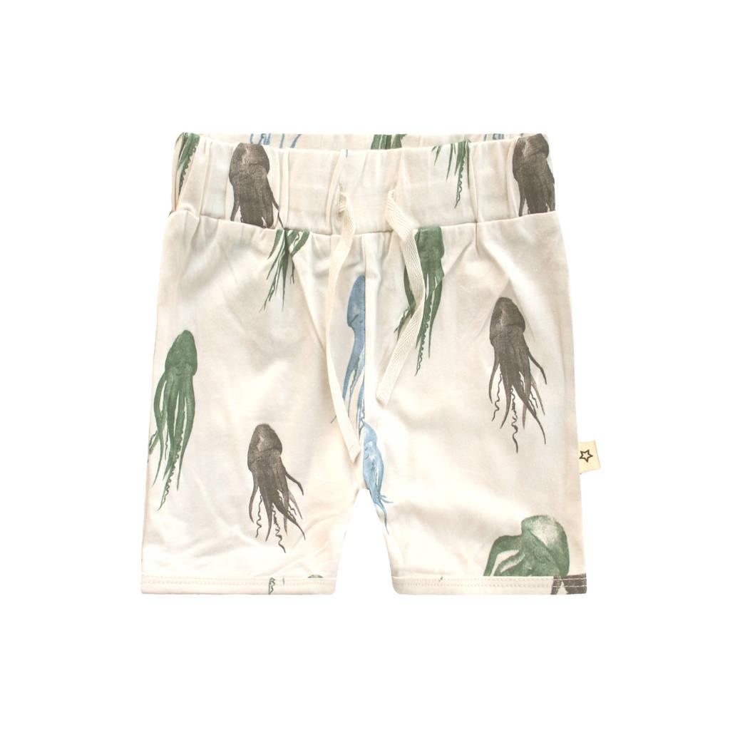 Your Wishes regular fit sweatshort met dierenprint ecru/blauw/groen, Ecru/blauw/groen