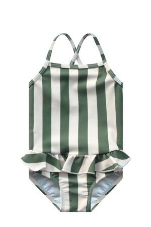 badpak met strepenprint groen/wit