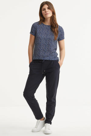 travel broek donkerblauw