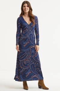 Imagine jurk met paisleyprint donkerblauw, Blauw