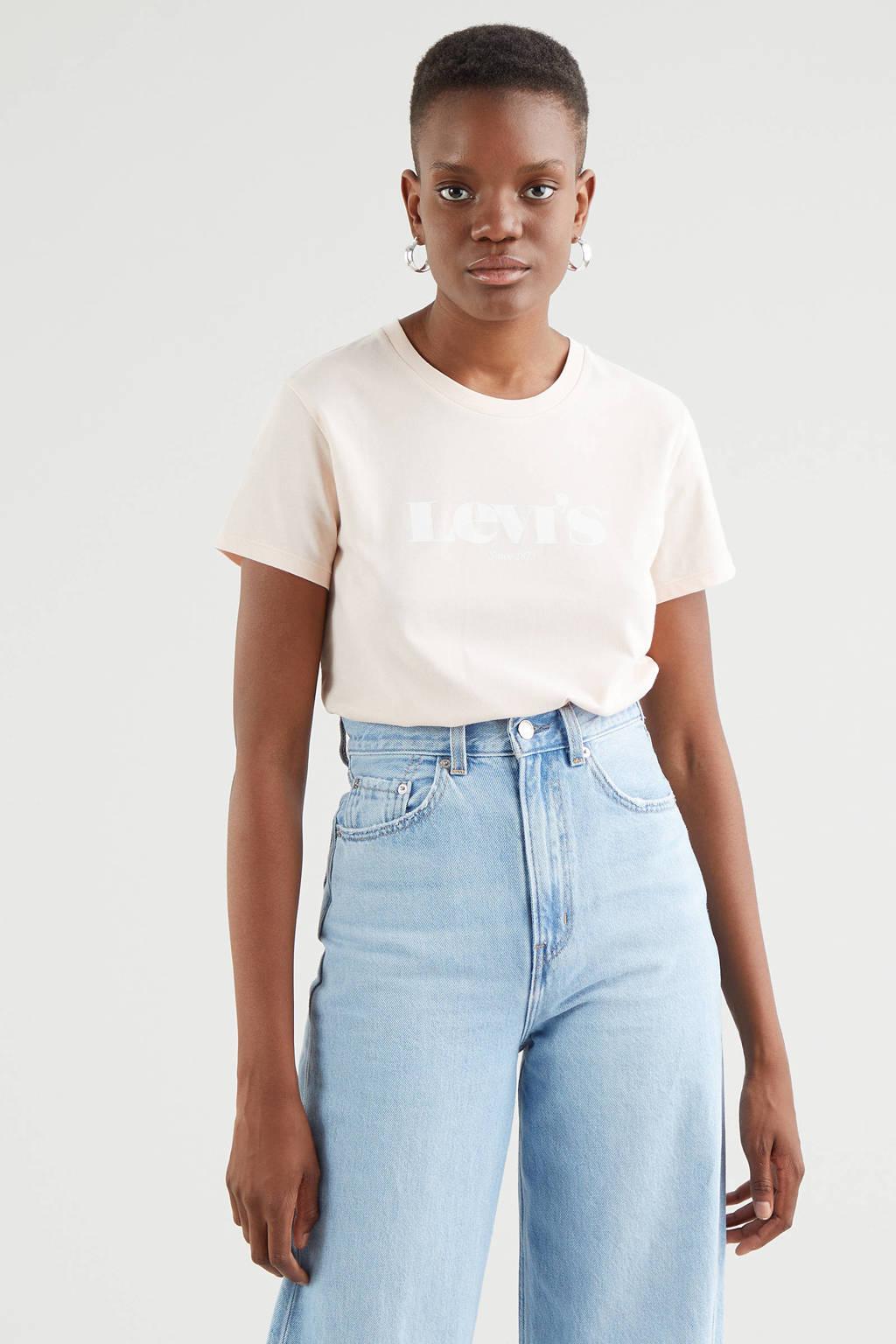 Levi's T-shirt THE PERFECT TEE met logo lichtroze, Lichtroze