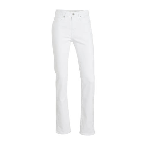 Levi's 724 high waist straight fit jeans western white