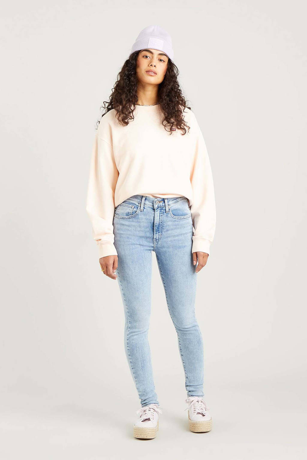 Levi's Mile high waist super skinny jeans black haze, SPILL THE TEA