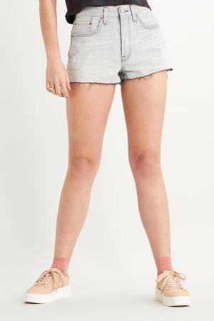501 ORIGINAL SHORT high waist jeans short jagged rocks