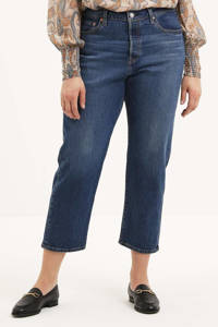 Levi's Plus PL 501 CROP cropped high waist mom jeans charleston outlasted plus, CHARLESTON OUTLASTED PLUS