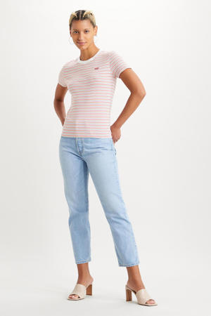 501 crop high waist straight fit jeans luxor