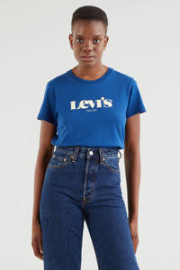 Levi's T-shirt THE PERFECT TEE met logo blauw, Blauw