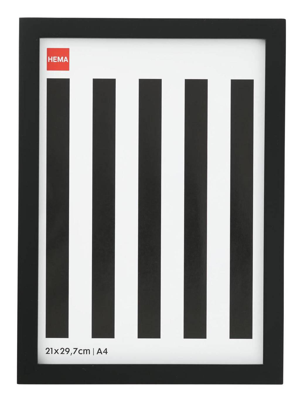 HEMA fotolijst A4  (24x32,5 cm), Zwart