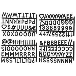 letters voor letterbord krat Zwart