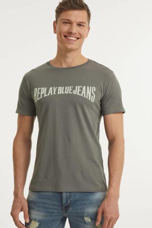 T-shirt met logo grijs