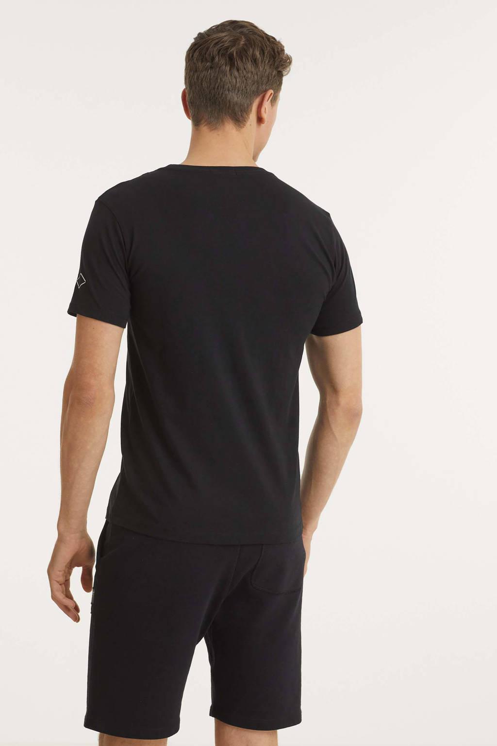 REPLAY T-shirt met logo zwart, Zwart