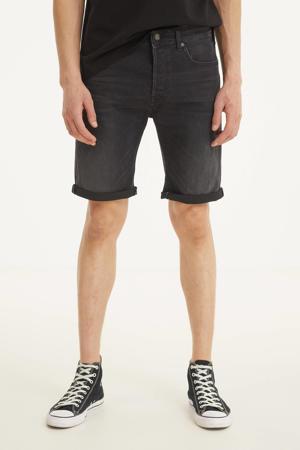 regular fit jeans short donkergrijs