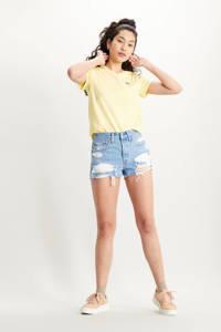 Levi's T-shirt PERFECT TEE grijs melange, Lemon Meringue