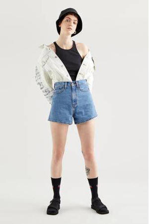HIGH LOOSE SHORT high waist jeans short supa dupa fly