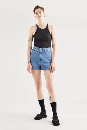 T-shirt HIGH NECK TANK zwart