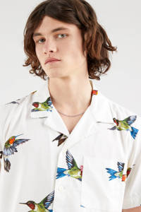 Levi's regular fit overhemd CUBANO met all over print wit, Wit