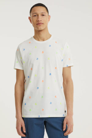 T-shirt met all over print wit