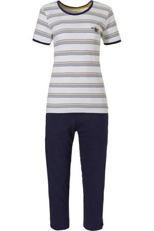 pyjama met strepen donkerblauw/wit