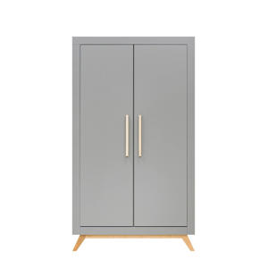 2-deurskast Fenna Grijs/Naturel