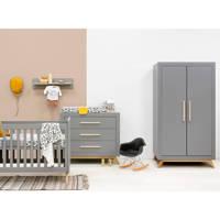 Bopita 3-delige babykamer Grey/Natural Fenna