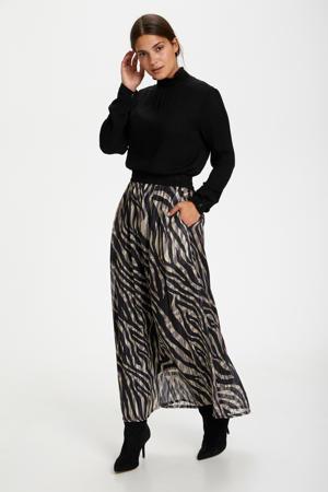 rok met zebraprint zwart