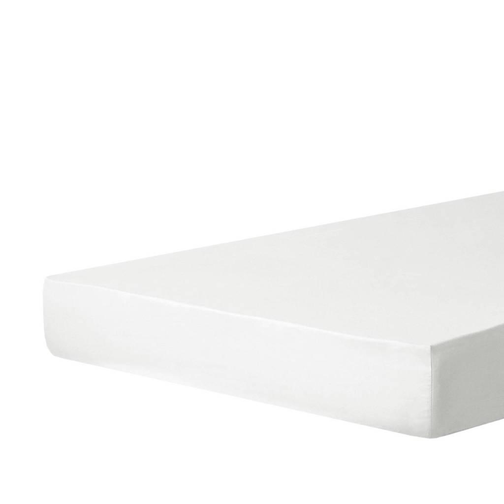 W polyester-katoenen hoeslaken  optical white