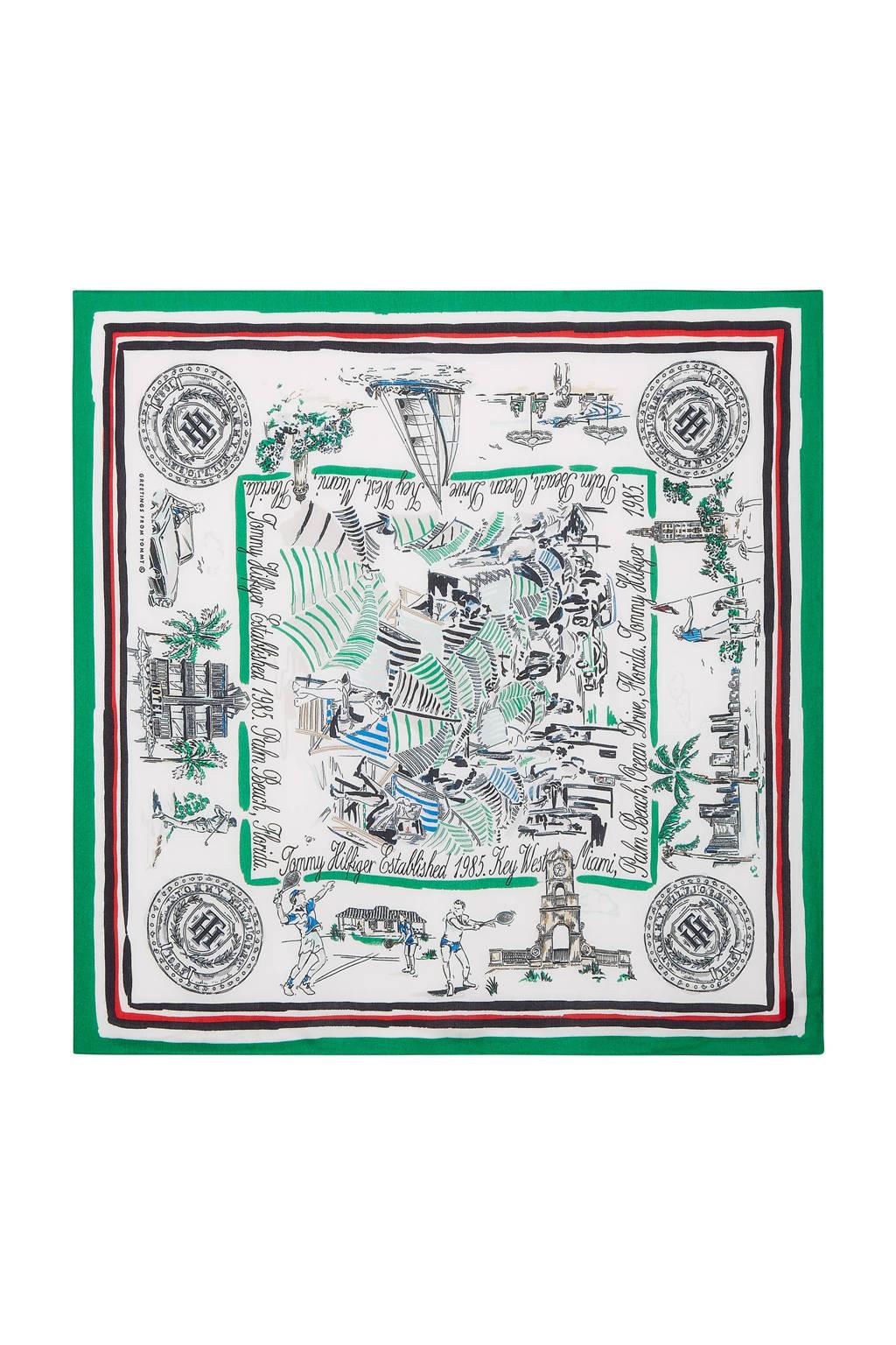 Tommy Hilfiger sjaal groen/wit, Groen/wit