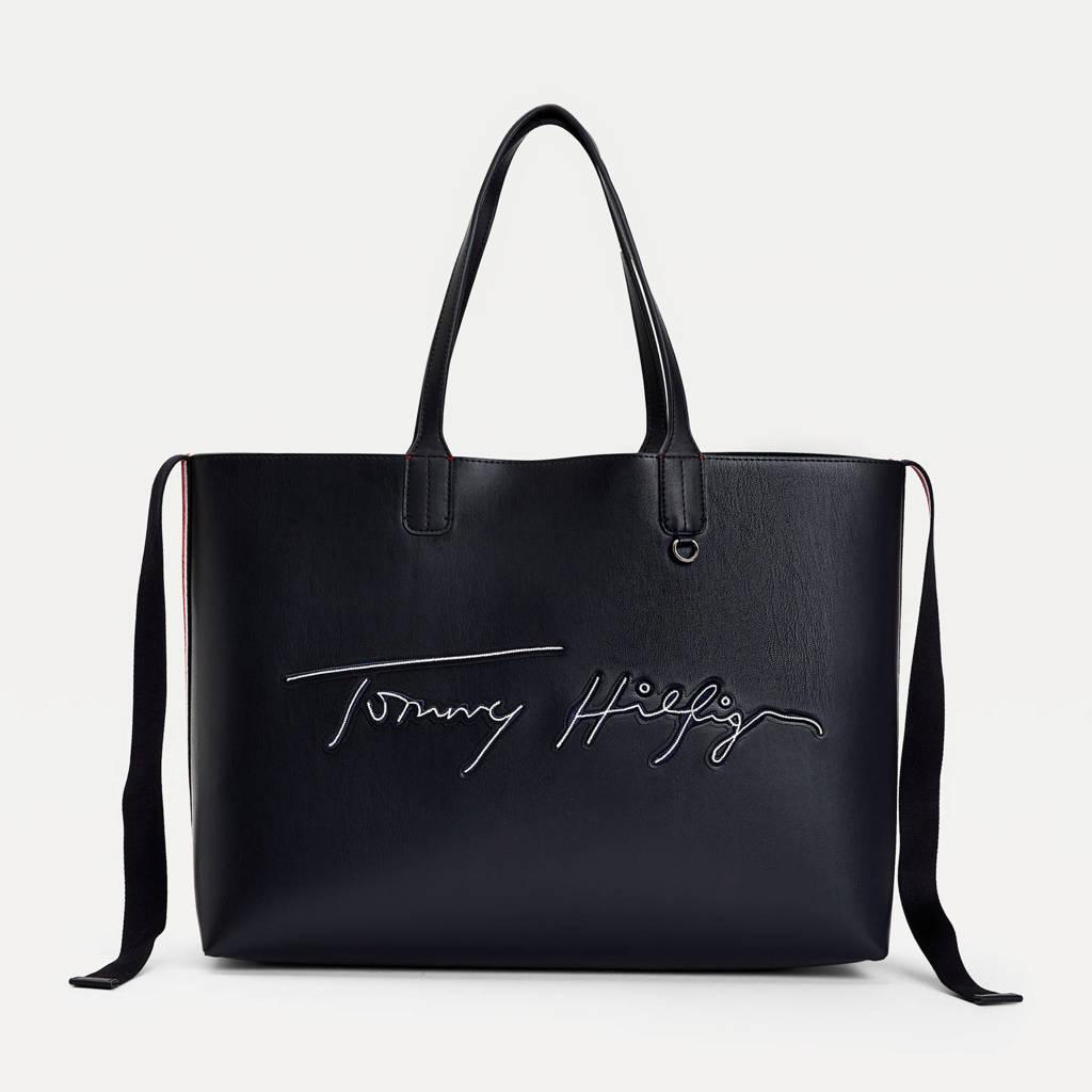 Tommy Hilfiger  shopper donkerblauw, Donkerblauw