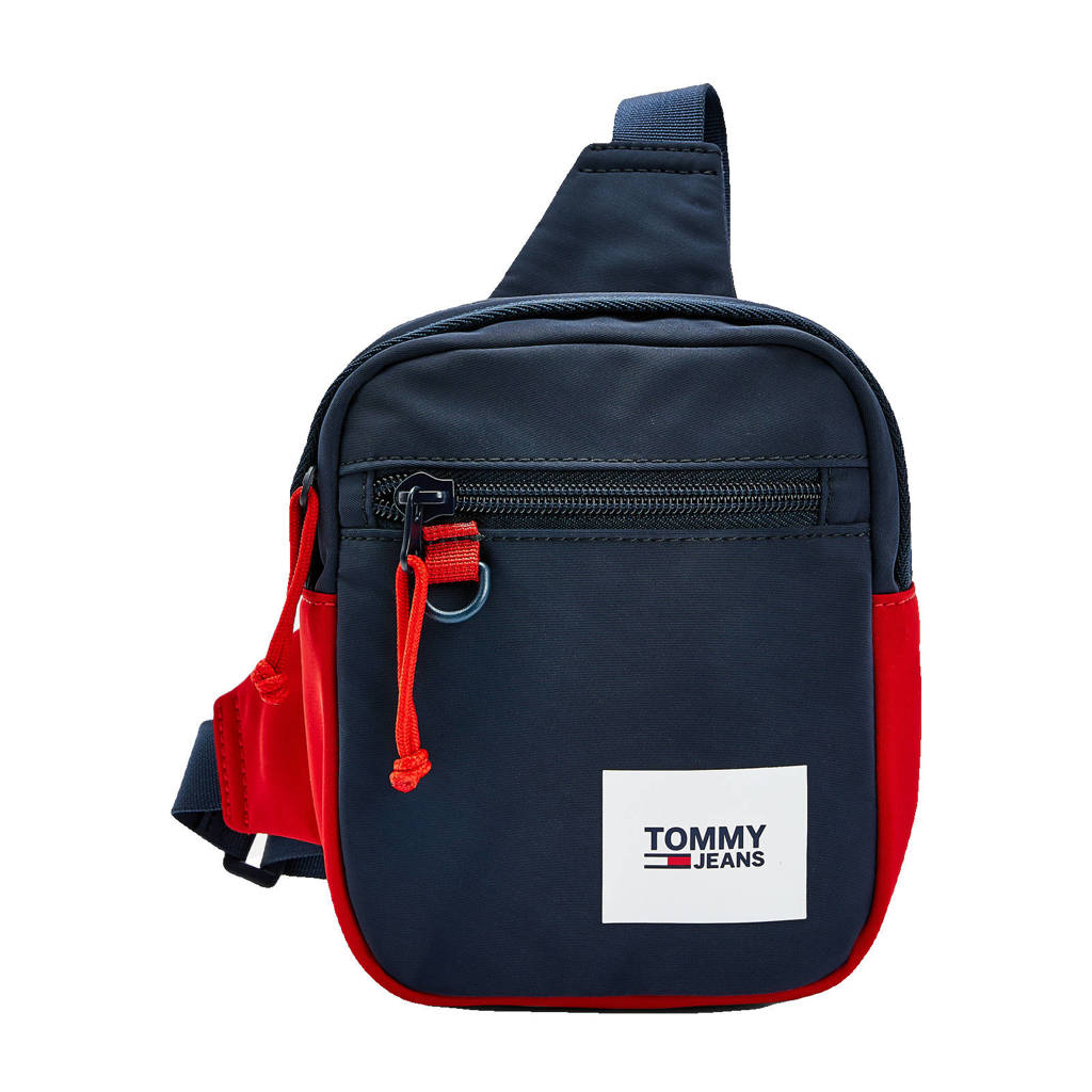 Tommy Hilfiger  schoudertas Urban Essentials donkerblauw/rood, Donkerblauw/rood