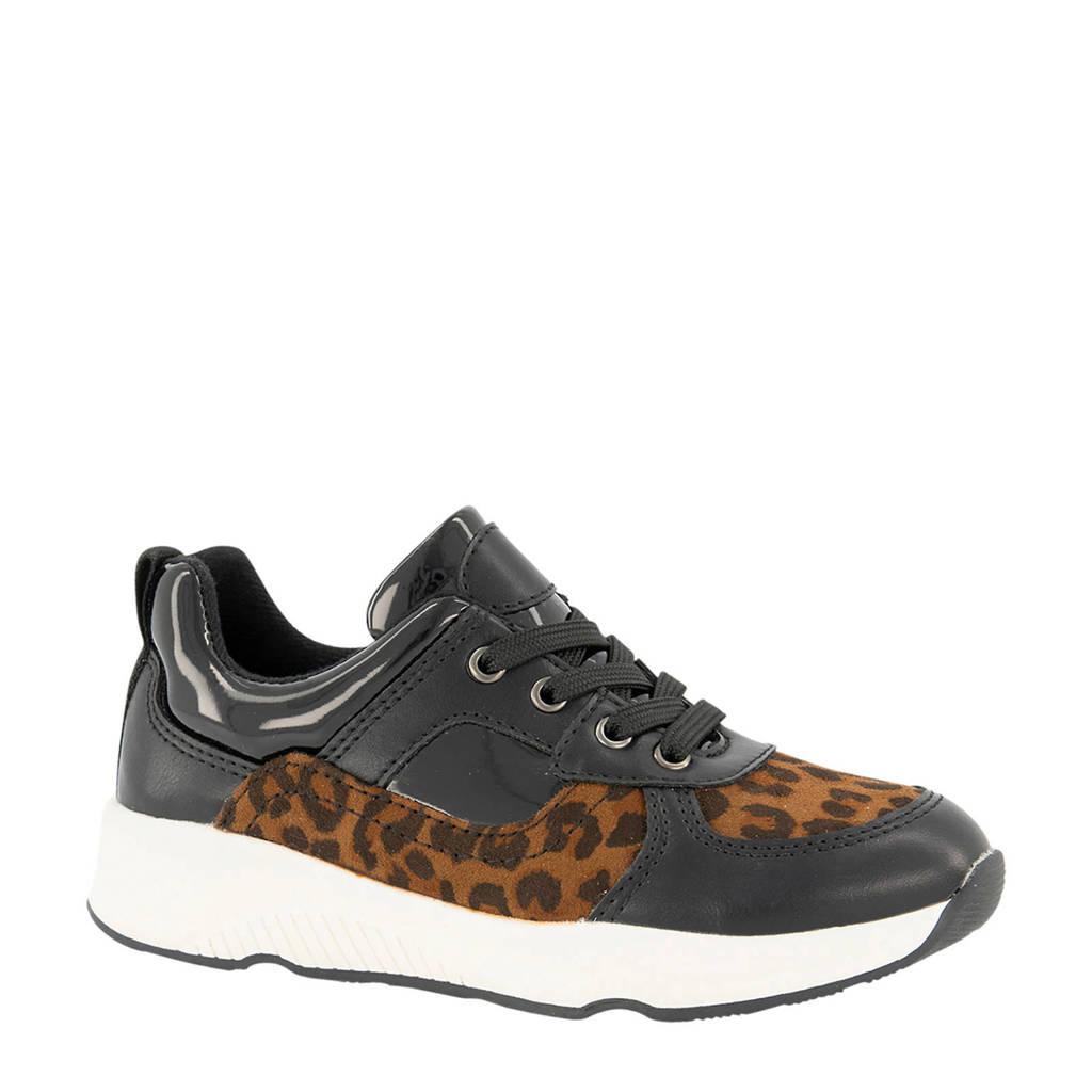 Cupcake Couture   sneakers met panterprint zwart, Zwart/bruin
