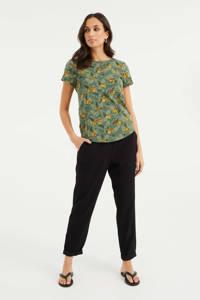 WE Fashion T-shirt met all over print cilantro, Cilantro