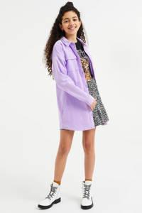 WE Fashion corduroy oversized overhemdblouse lila, Lila