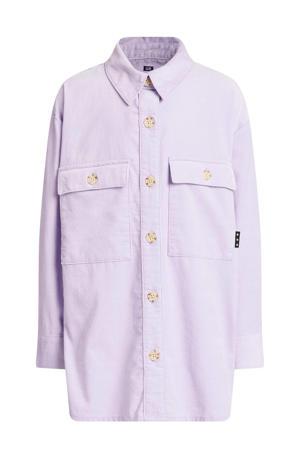 corduroy oversized overhemdblouse lila