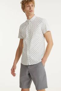 Tom Tailor Denim regular fit overhemd met all over print wit, Wit