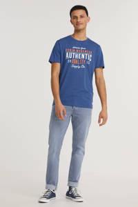 PRODUKT T-shirt Simon - (set van 1), Blauw/wit