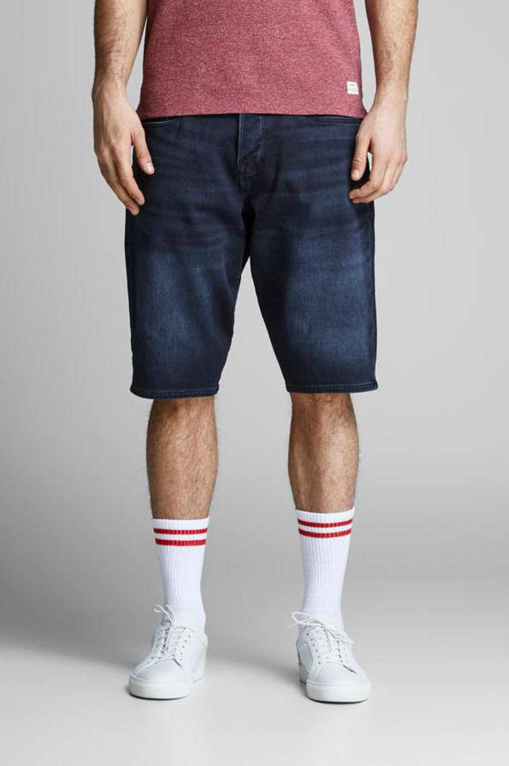 JACK & JONES JEANS INTELLIGENCE regular fit jeans short Ron dark denim, Dark denim