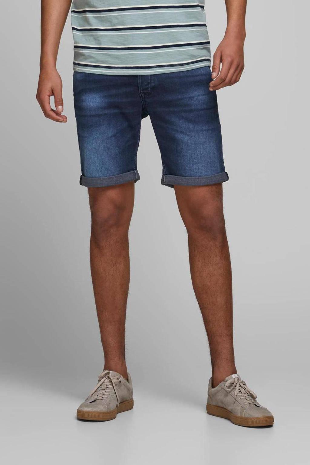 JACK & JONES JEANS INTELLIGENCE regular fit jeans short Rick dark denim, Dark denim