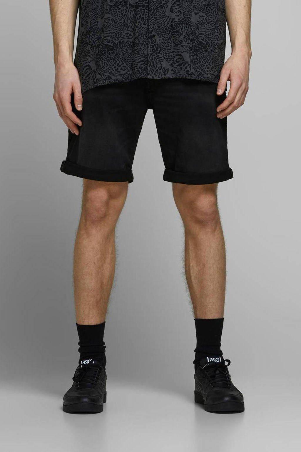 JACK & JONES JEANS INTELLIGENCE regular fit jeans short Rick zwart, Zwart