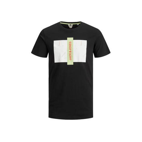 JACK & JONES CORE T-shirt met logo zwart