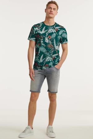 gebloemd T-shirt Blales groen/oranje