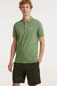 JACK & JONES ORIGINALS regular fit polo Phlock met all over print groen, Groen