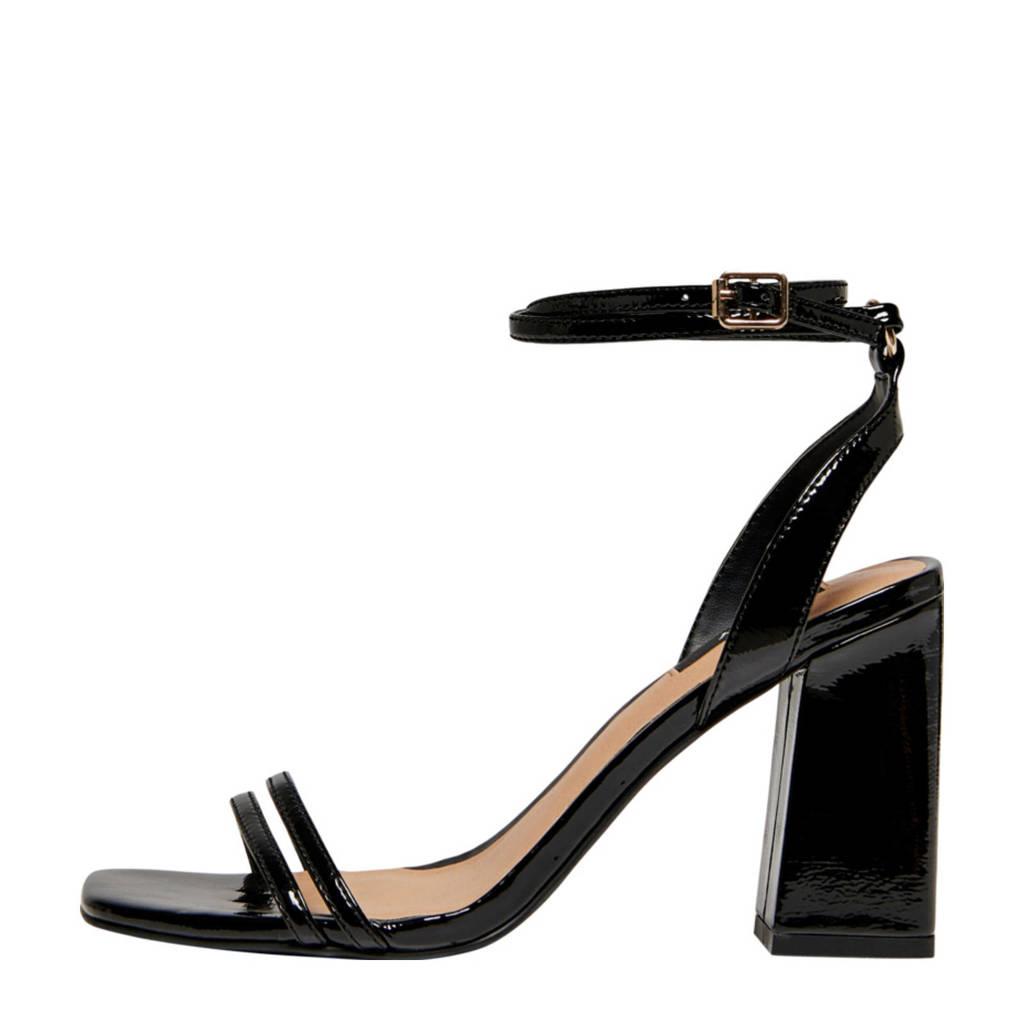 ONLY Alyx  sandalettes zwart, Zwart
