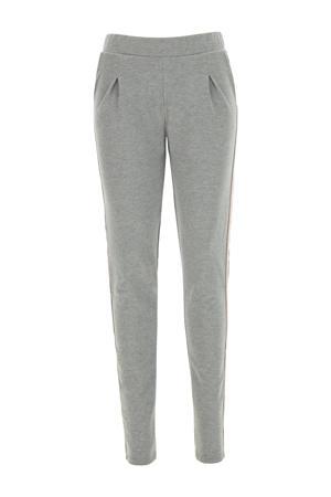straight fit legging grijs melange