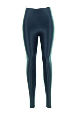 imitatieleren legging donkerblauw