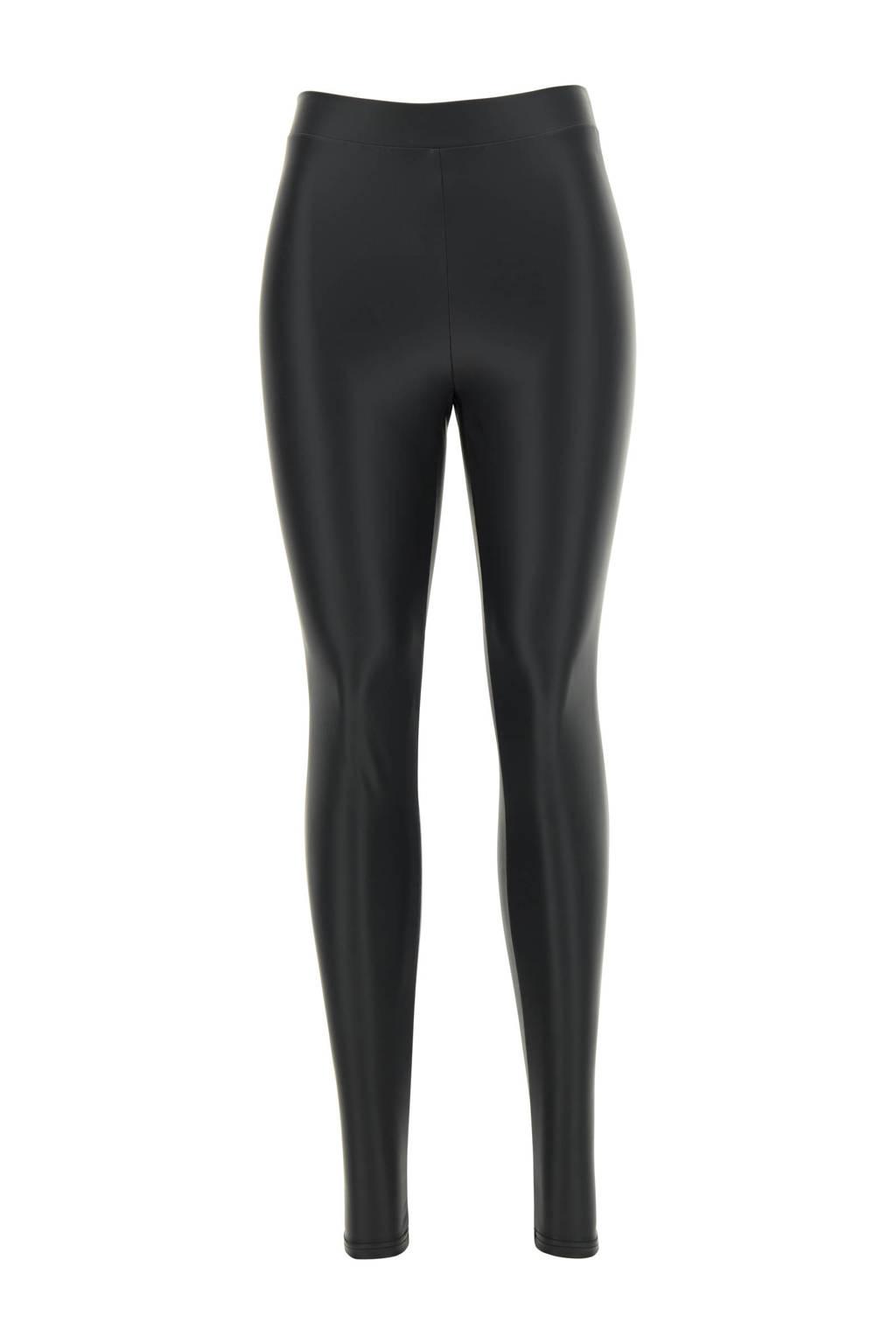 Oroblu imitatieleren legging zwart, Zwart